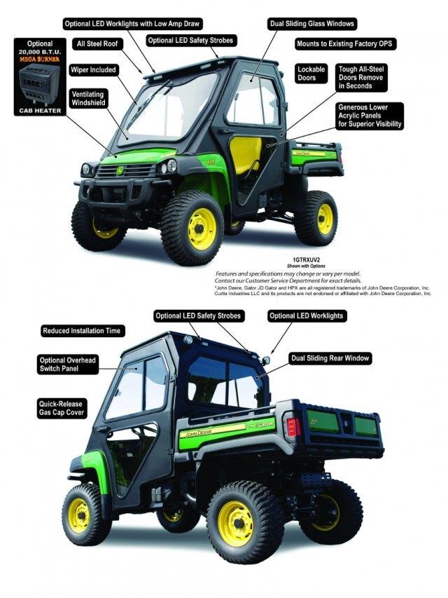 curtis | New John Deere Gator HPX/XUV All Steel Cab
